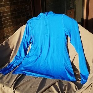 Champion royal blue zip long sleeve running shirt